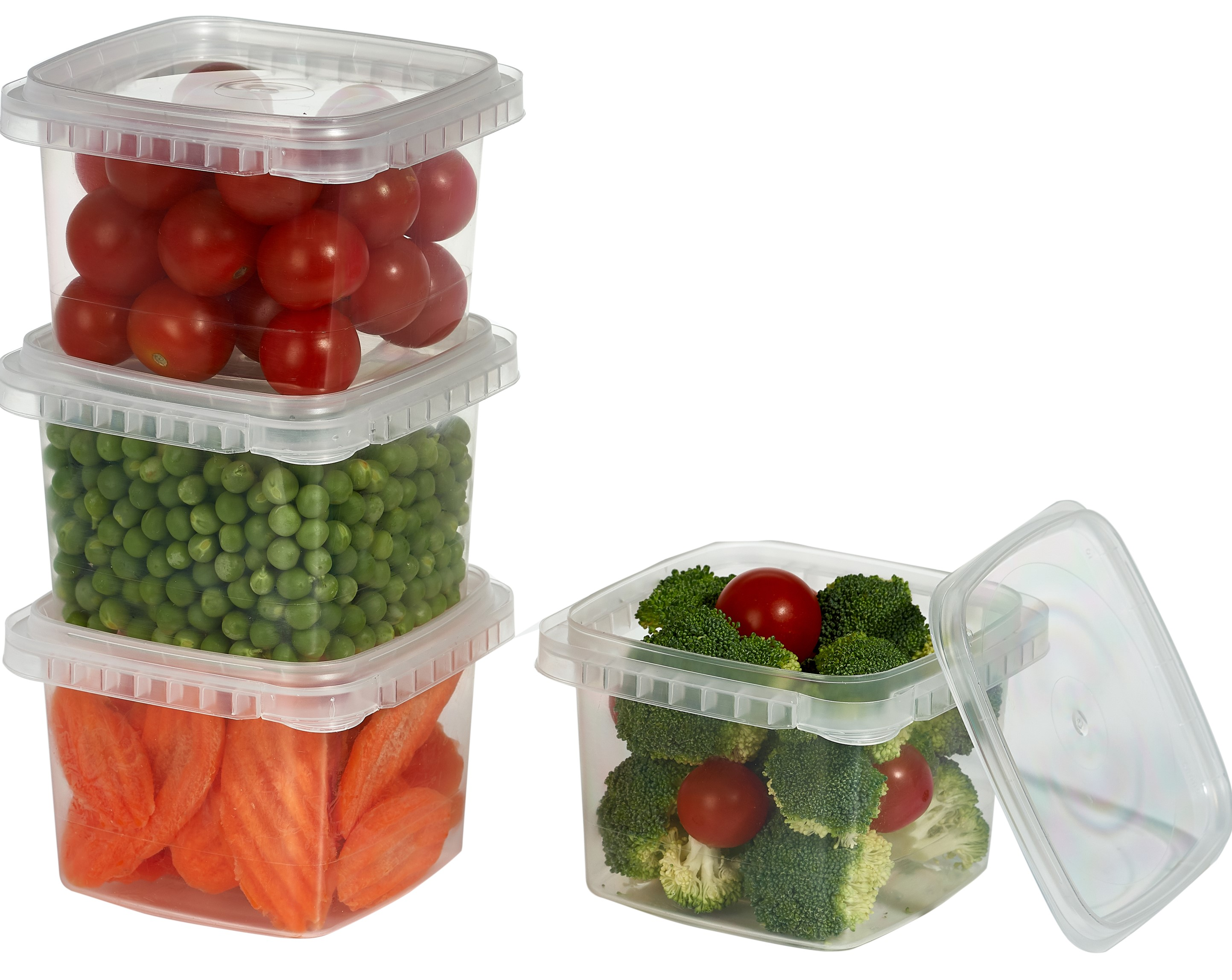 Freezable Storage /& Organization Clear Food Deli Containers With Lids 64-Ounce,